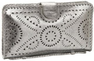 Mexicana Hand Tooled Clutch Wallet,Silver Soft,one size Shoes