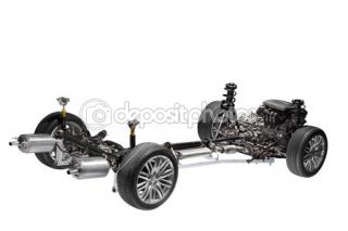 Car chassis with engine.  Foto Stock © rudi1976 #11563164