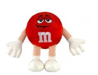 Red M&M Small Plush Character Doll Toys & Games
