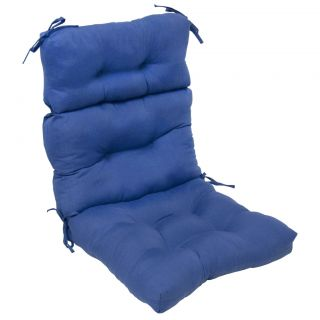 Outdoor Aqua Blue High Back Chair Cushion