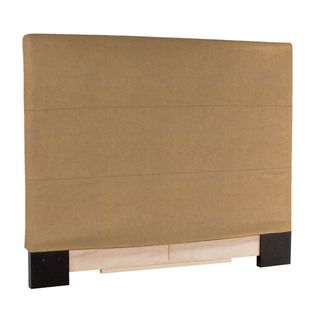 Slip covered Full/ Queen Bronze Faux Leather Headboard