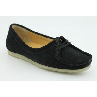 Clarks Originals Womens Wallabee Chic Black Casual Shoes