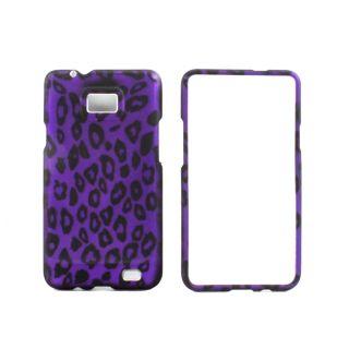 Premium Samsung Galaxy S II Purple Black Leopard Protector Case