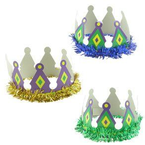 Paper Mardi Gras Crown Toys & Games