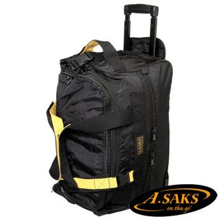 Saks Lightweight Expandable 20 inch Carry On Rolling Upright Duffel