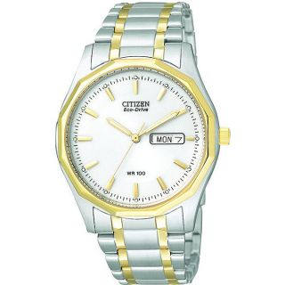 Citizen Mens Eco drive Two tone Stainless Steel Watch