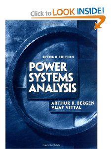 Power Systems Analysis (2nd Edition) Arthur R. Bergen, Vijay Vittal