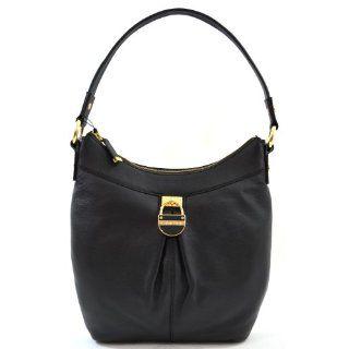 Calvin Klein Genuine Leather Black Shoulder Bag Purse Handbag