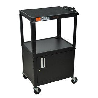 Wilson Adjustable Black Cabinet Model Metal Utility Cart