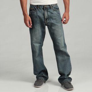 Anitque River Mens Stud embellished Woven Jeans