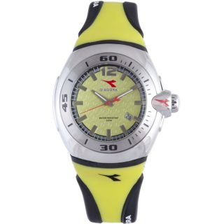 Diadora Mens Lime Green/ Grey Rubber Date Watch