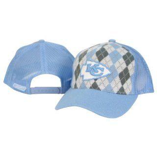 Kansas City Chiefs Sky Blue Plaid Trucker Hat Sports