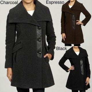 Cole Haan Womens Wool Cashmere Coat FINAL SALE