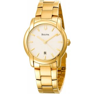 Bulova Mens Gold plated Stainless Steel Watch