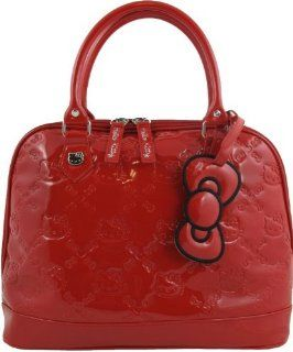 Hello Kitty Red Patent Embossed Overnight Bag Shoes