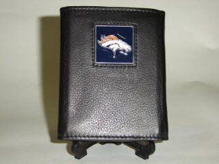 NFL Denver Broncos Black Logo Leather Wallet Sports