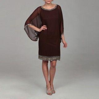 Laxmi Womens Metallic Beaded Dress