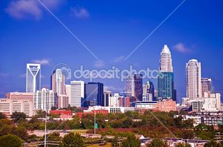 Charlotte the queen city financial district  Foto Stock © digidream