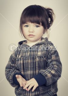 Portrait of sad little girl  Stock Photo © Miljan Mladenovic