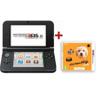 CONSOLE 3DS XL ROUGE NOIR+ NINTENDOGS CATS GOLDEN   Achat / Vente DS