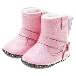 Little Blue Lamb Hand stitched Pink Leather Walking Boots