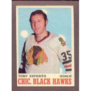 1970 71 O Pee Chee #153 Tony Esposito Black Hawks VG EX
