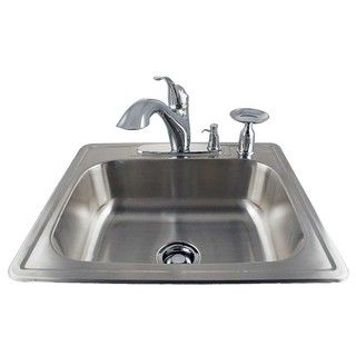 Drop in Stainless Kitchen Sink/ Faucet Kit