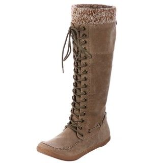 Big Buddha Grand Taupe Lace up Boots FINAL SALE