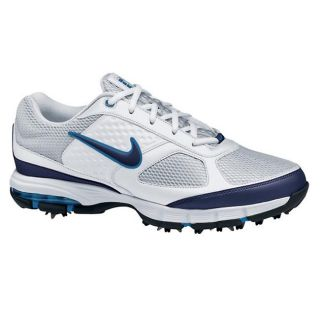 Nike Mens Air Max Edge White/ Blue Golf Shoes