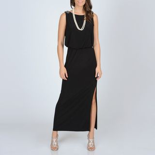 Richards Womens Black Jersey Knit Gown