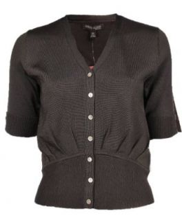 Anne Klein Womens Button Down Cardigan Brown Clothing