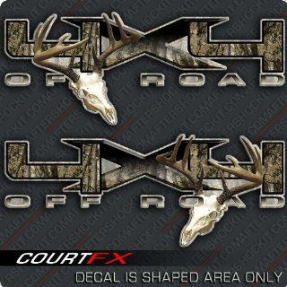 4x4 Deer Skull Archery F 150 Decal Sticker Set: Sports