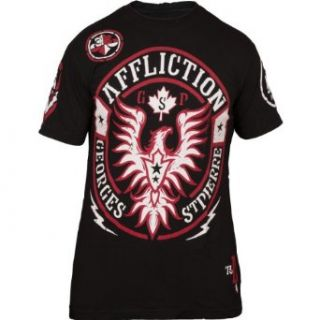 Georges St Pierre UFC 154 GSP Rush Walkout T Shirt [Black] Clothing