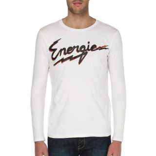 ENERGIE T Shirt Lowerly Homme Blanc   Achat / Vente T SHIRT ENERGIE T