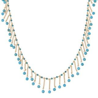 Adrienne Vittadini Goldplated Anzio Simulated Turquoise Bead