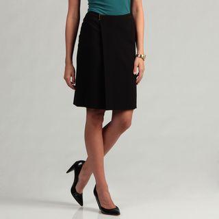 Calvin Klein Womens Faux Wrap Skirt
