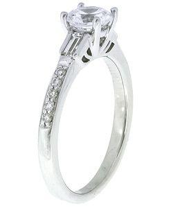 14k White Gold 1ct TW Diamond Engagement Ring