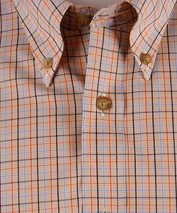 Enro Mens 100 Cotton Non Iron Plaid Shirt