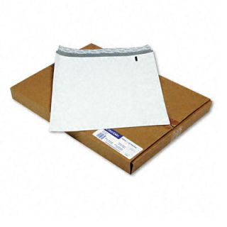Durashield Security Open End Plain White Poly Envelopes   100 per Box
