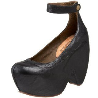 Gee WaWa Womens Femme Ankle Strap Pump,Black Martino,6.5 M US Shoes