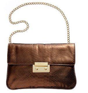Michael Michael Kors Handbag, Sloan Clutch Cocoa Shoes