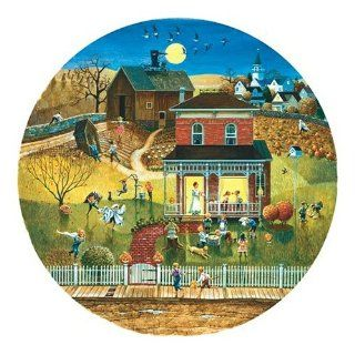 Sunsout Halloween Night 500 Piece Jigsaw Puzzle Round