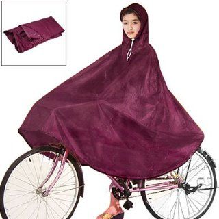 Como Women Men Dark Red Cycling Bicycle Bike Raincoat Rain