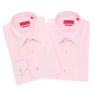 Coloris  rose. Lot de 2 Chemises TORRENTE COUTURE Homme, 97 % coton
