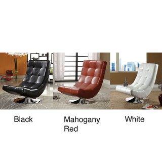 Encore Leatherette Swivel Chair