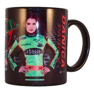 Danica Patrick NASCAR Go Daddy Black Coffee Mug Sports