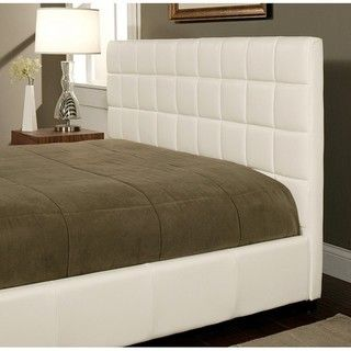 Abbyson Living Torrance White Bi cast Leather Queen size Bed