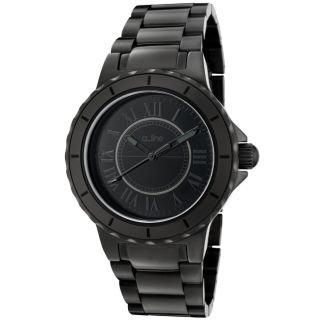 line Womens Marina Black Ion Plated Stainless Steel Watch