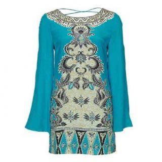 Winter Kate ESHA Dress, Peacock Silk Crepe, Size Medium