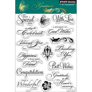 Penny Black Gratitude Clear Stamps